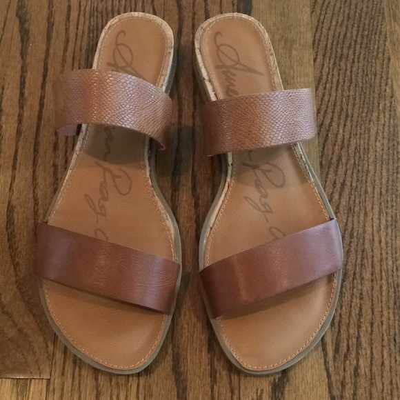 39ad88cd3dd American Rag Shoes - American Rag Easten Slide Sandals Brown